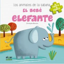 El bebé elefante. Libro puzle